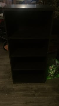 Black wooden 4-layer shelf Port Coquitlam, V3B 3E7