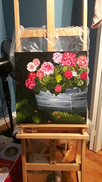 Original flower acrylic painting on canvas