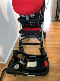baby's black and red stroller Calgary, T2A 6J4