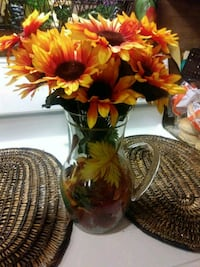 Sunflowers in pretty glass pitcher Manvel, 77578