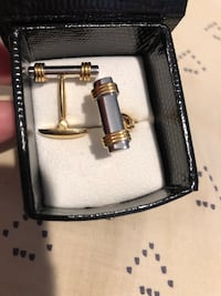 Two tone gold cuff links Kensington, 20895
