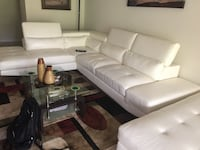 White leather 3-seat sofa Reston, 20190