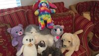 Stuffed animal toy lot. Great condition. Two of them from Build a Bear (the bunny and the bear).