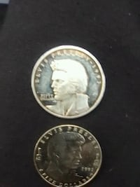 two round silver Liberty coins Wynnewood, 73098