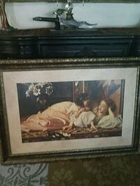 brown wooden framed painting of woman South El Monte, 91733