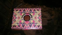 pink, grey, and black tribal-pattern iPad flip case