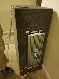 silver Boss amplifier and black subwoofer enclosure Greensboro, 27408
