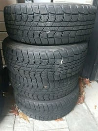 DUNLOP 185/65/14 WINTER TIRES ON 4 X 100 RIMS