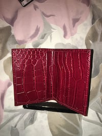Red Leather Wallet Toronto, M3N