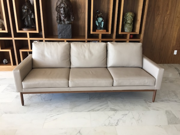 Raleigh 3 seater leather sofa