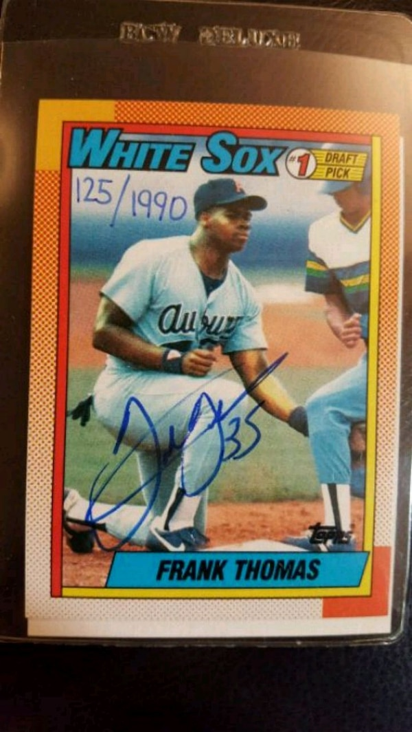 Frank Thomas Autographed 1 Draft Pick Card