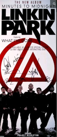 Linkin Park , Chester Bennington Autographed promo poster Mississauga, L5P 1B2