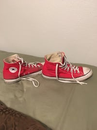 Red Converse Size 10.5 male/12.5 female San Antonio, 78216