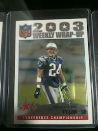 NFL 2003 Ty Law trading card Snellville, 30039