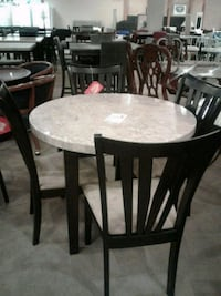 Genuine Marble Top Dining Table with four chairs s Phoenix, 85018