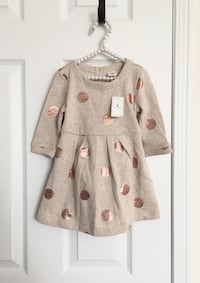 Babygap rose gold polkadot dress size 18-24m- brand new with tags Mississauga, L5M 0C5