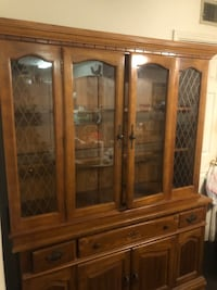 Vintage hutch with top and bottom