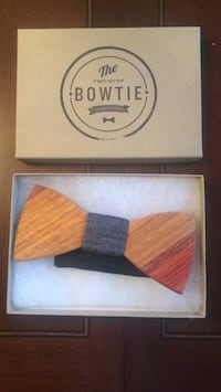 Wooden bow tie accessory