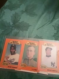 three assorted-color baseball trading cards Gaithersburg, 20878