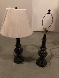 Two table lamps - with or without shades