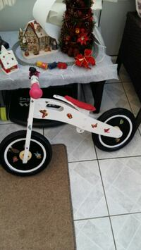 white and red bicycle with training wheels West Yorkshire, BD2 2HW