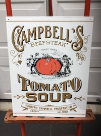 Campbell's Tomato Soup Metal Sign Huntingdon Valley, 19006
