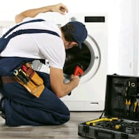 New parts washer and gas dryer repair