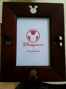 Disney mickey cut out brown wooden 5x7 photo frame