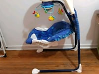 baby's blue and white bouncer Toronto, M6M