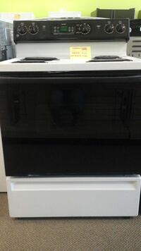 black and white electric coil range oven Clayton, 27520