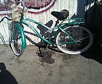 green commuter bicycle 227 mi