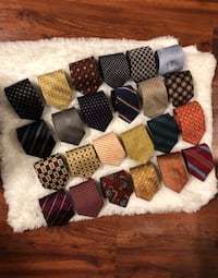 Lot of 25 Designer Silk ties.  Annandale, 22003