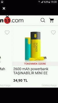 LED FENERLİ POWERBANK  Kaletepe, 71400