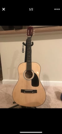 brown and black dreadnought acoustic guitar Bowie, 20720