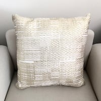 Gold pattern pillows set of 2- never used