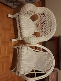 two white wicker armchairs Vaughan, L4L 3V4