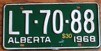 1968 License Plate Acheson, T7X