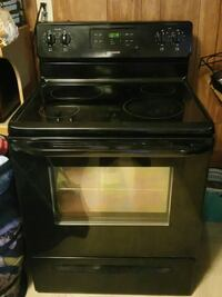 black induction range with oven 221 km