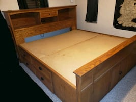 King Size Bed with drawers and under storage