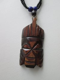 African Bone Mask Necklace With Beads 22 inch + mask Notre-Dame-de-l'Île-Perrot