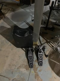 Like New Iron Cobra Double Pedal With Case Wheeling, 26003