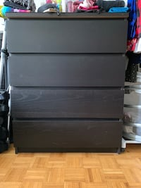 IKEA malm dresser with glass top Toronto, M4R 2E9