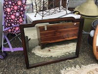 rectangular brown wooden frame mirror 邓肯, V9L