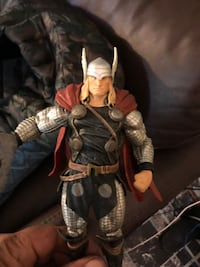 Thor action figure with stand