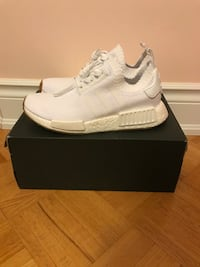ADIDAS NMDs Gum Sole All White Women's 8 Vaughan