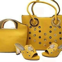 women's yellow and brown leather tote bag Toronto, M6M 3A9