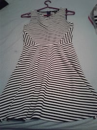 Forever 21 black/white striped fitted dress  RICHMOND