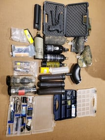 Paintball gun and equipment