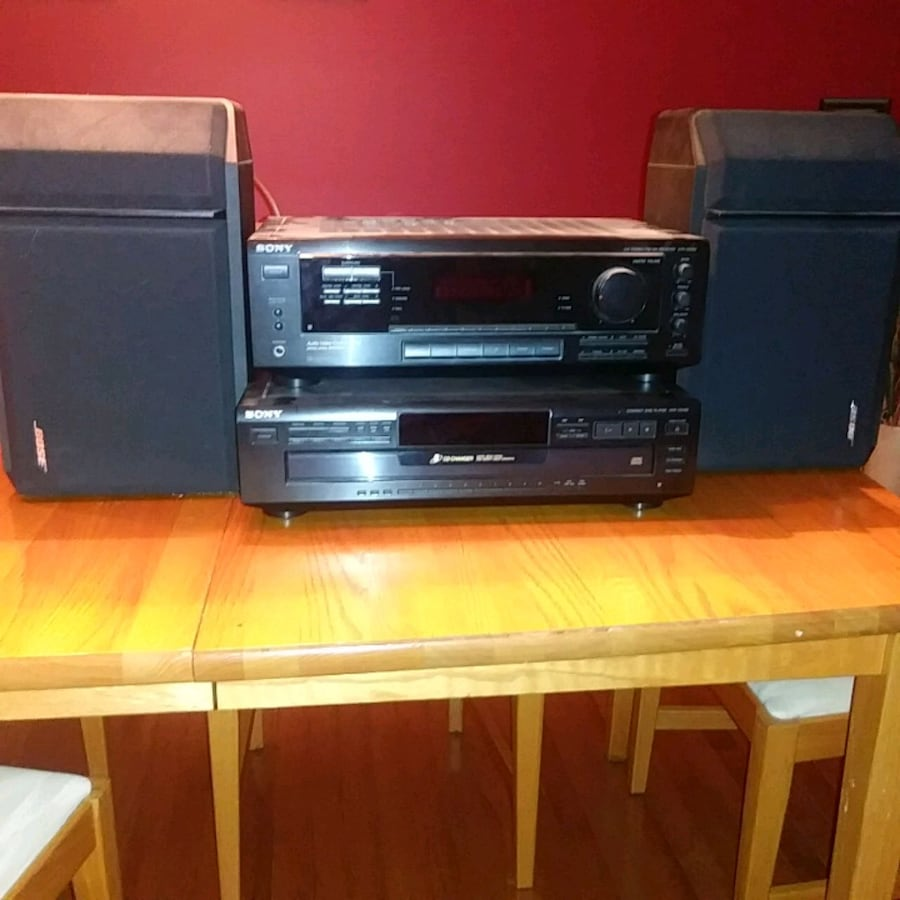 CD player, with amplifier and two speakers