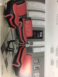 Modern style red and black leather couch set Beaverton, 97005